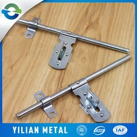 Supply all kinds of T type tower bolt Stainless steel security door bolt Padlock latch door latch