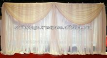 Rod Pocket Top New Style Jacquard Curtain Design With Fancy Valance