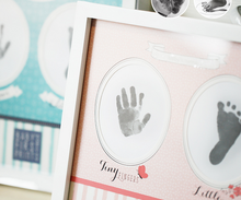 Hot Unique gift handprints footprint keepsake clay kit baby photo frame