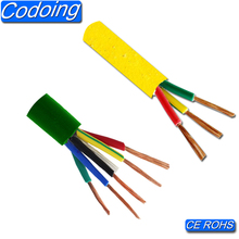 Low voltage 450/750v pvc coated copper core electric wire cable 2.5mm
