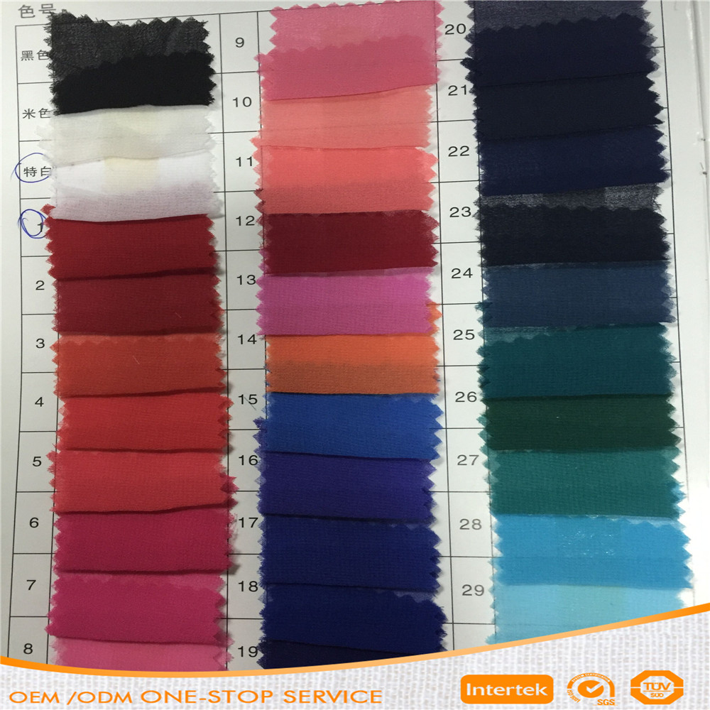 Good quality 100% polyester georgette chiffon fabric for dress