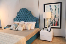 Arabic style upholstery furniture tufted beds headboards