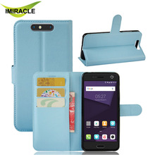 New Arrival PU Flip Wallet with Stand Leather Case Back Cover For ZTE Blade V8 Cell Phone