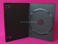 7mm PP single double disc dvd case transparent black