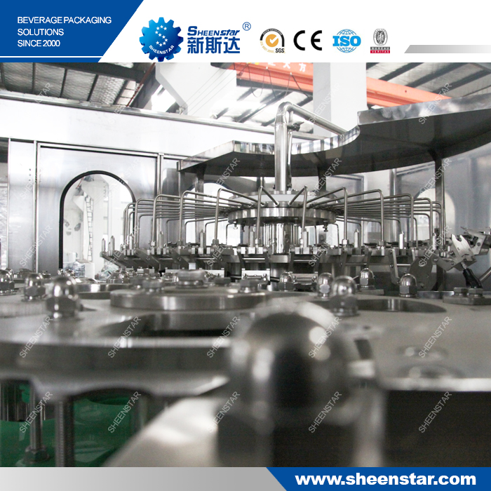 Automatic plastic bottle filling equipment