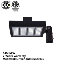 2016 UL DLC approved led shoe box light 200w with Slip Fitter/Straight Arm/U-Bracket,with 120lm/W
