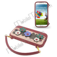 Handbag Style 3D Flower Soft Silicone Cover Waterproof Case for Samsung Galaxy S4 Case SIV i9500 I9505 I9508