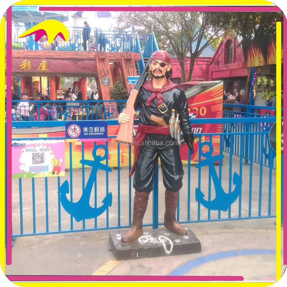 KANO6159 Cartoon Decoration Life Size Pirate Statue For Sale