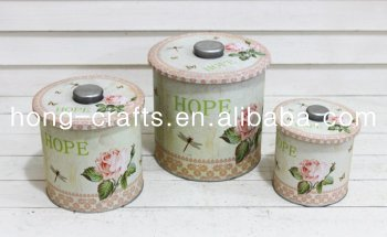 new style exquisite printed tea tin box for home