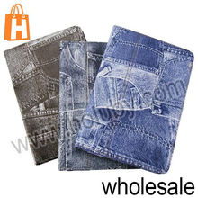 Cool Cowboy Jeans Pattern Flip Stand Leather Case for iPad Mini Black Gray Blue