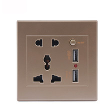 BXST universal wall socket european,wall power socket,13A Wall Switched socket with USB
