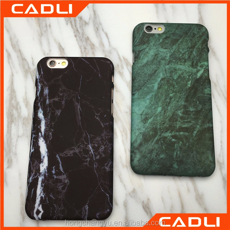Hot selling custom marble style plastic cell mobile phone back cover case for iPhone 6S