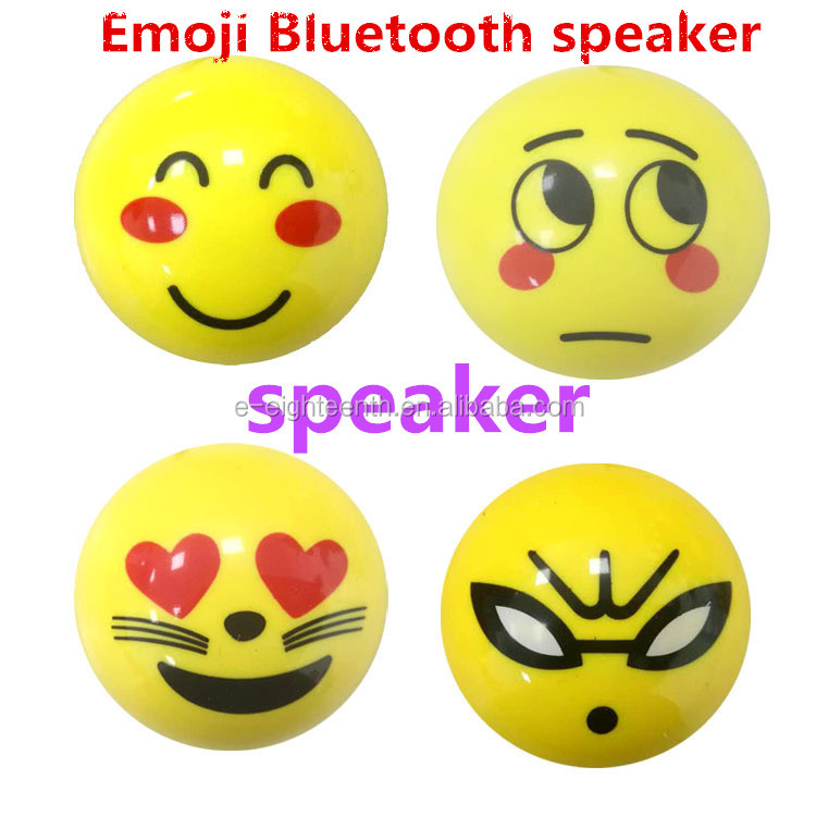 popular mobile accessory mini cute lovely emoji wireless Bluetooth speaker for promotion gift