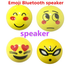 popular mobile accessory mini cute lovely emoji wireless BT speaker for promotion present