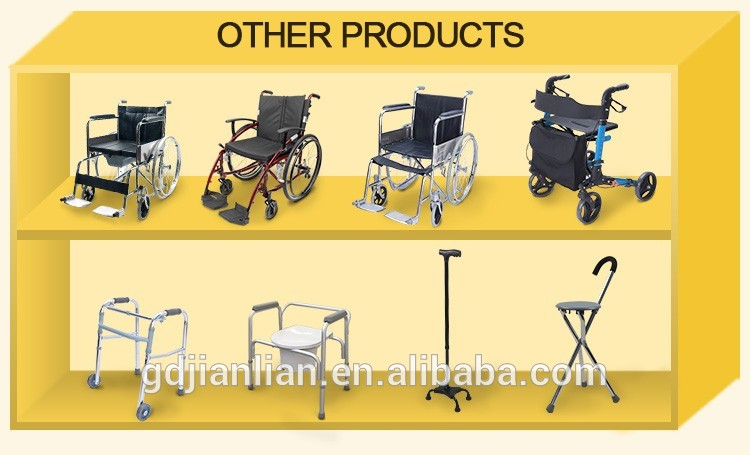 JL914H factory price four wheel rollator walker with seat