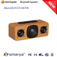 Alibaba 2015 hot sale newest 20W wooden bluetooth speaker, new indoor bluetooth wooden speaker, portable wood speaker