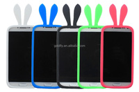 Universal Soft Bumper Case for Mobile Phone 4.0 ~ 5.0 inch Candy Color Night Light Rabbit Bear Ears Multi Wristband phone Case