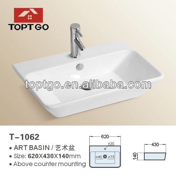 Multy-Functional Pocelain Bathware Wash Basin Price in India T-1062