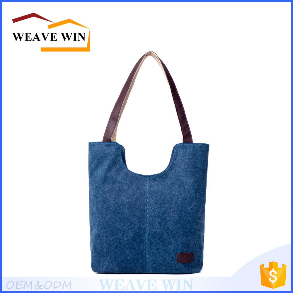 Made in China pure cotton canvas custom printed tote bag two sided shoulder bag