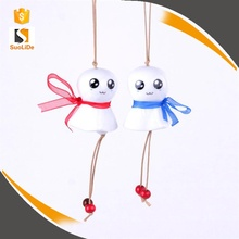 New type small wax rope lovers cute ceramic wind chime