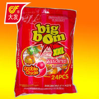 big bom lollipop with bubble gum inside