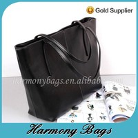 Elegant design lady's custom black tote bag