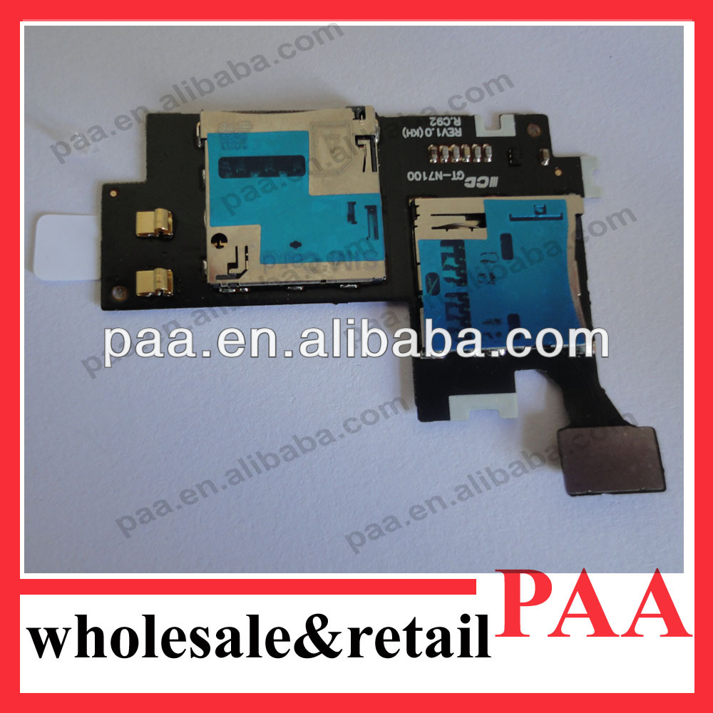 Sim Card Slot Holder Flex For samsung n7100 SIM Tray Card Flex Cable Ribbon Replacement