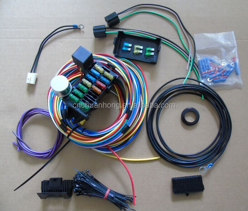 NEW 12 Circuit Auto Wiring Harness CHEVY MOPAR Hot rods UNIVERSAL XL Wires