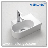 Bathroom luxury design sanitary ware countertop ceramic face wash basin vessel sink in chaozhou