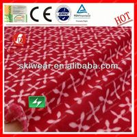 100% Polyester Antistatic canadian printed fleece fabric