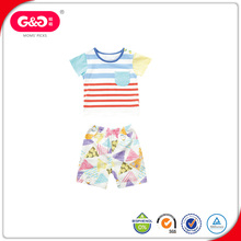 organic cotton striped printted carters baby clothes set