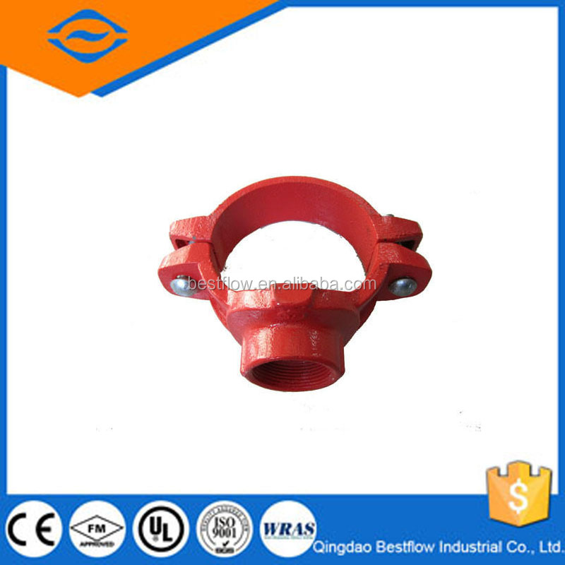 20% discounted electroplate ductile iron pipe fittings/Mechanical tee threaded outlet