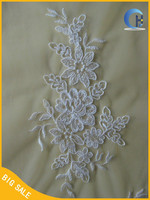 High Quality Cotton Flower Appliques Cord Embroidery Lace(JX038A)