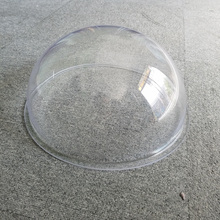 Guangzhou clear and high light transmittance round plastic dome