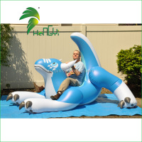 Hot selling Giant Inflatable Animal Cartoon Characters / Inflatable Jumping Animal / Inflatable Blue Dragon