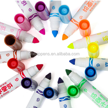 non-toxic children's watercolor pen set washable watercolor painting brush