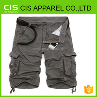 Khaki workwear trousers cargo pants with a lot of side pockets
