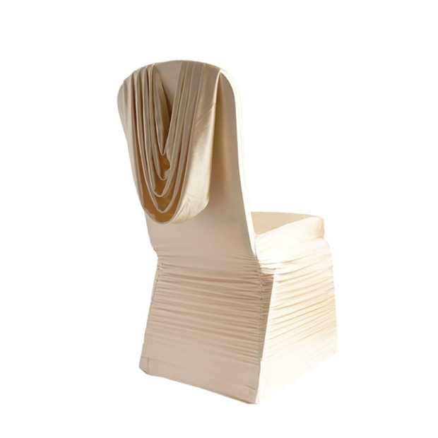 Wholesale Gold Pleated Luxury Chair Cover