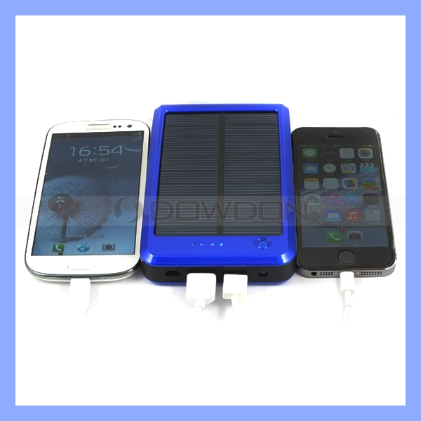 15000mAh 2W Lithium Battery Solar Mobile Charger for iPhone Samsung HTC