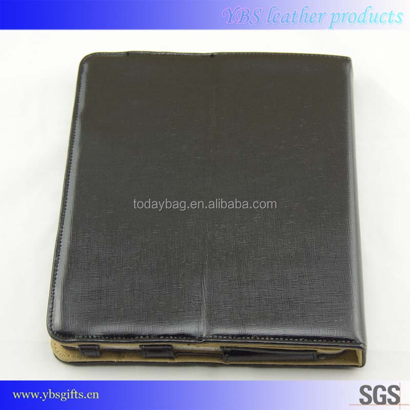 High quality genuine leather flip cover case for tablet
