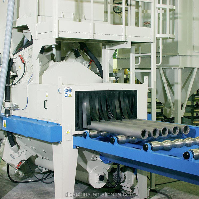 Steel Pipes or Tubes Descaling Shot Blasting Machine