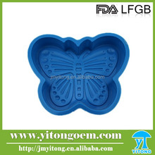 Food grade Promotional 3D Butterfly Cartoon Cookie Cutter Silicone Cake Mold