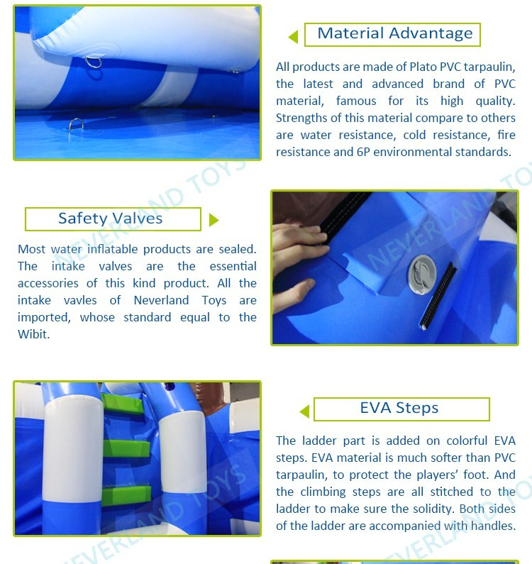 PVC plastic blue color above ground portable inflatable swimming pools