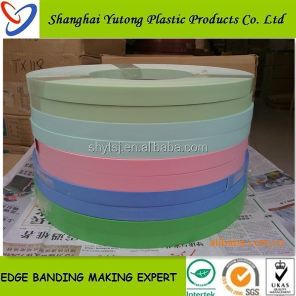 high gloss white mdf board rubber plastic abs profile edge banding