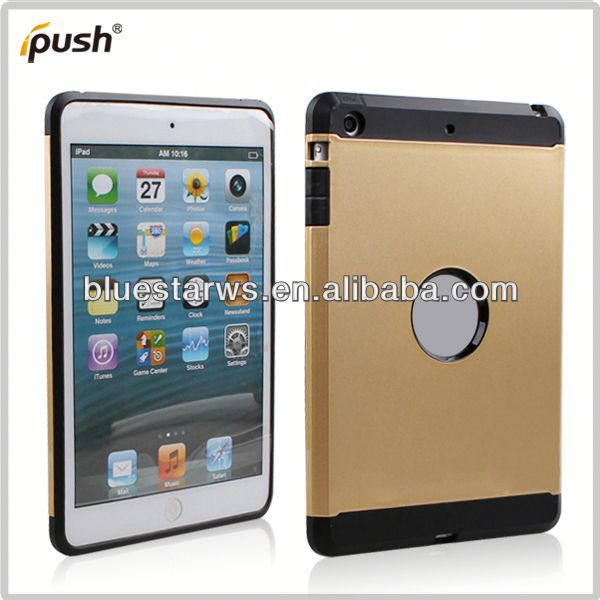 TPU +PC case Crystal Case Cover For ipad Mini,PC+TPU Transparent Case For ipad mini