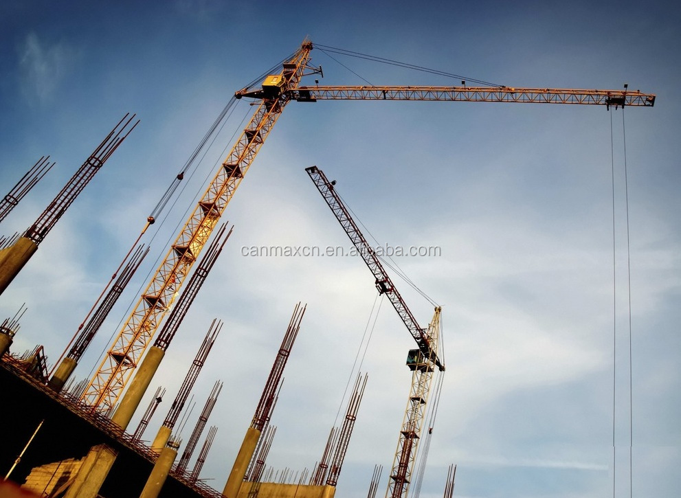 a complete range of specifications for tower crane model TC5615 tip load 1.5m3