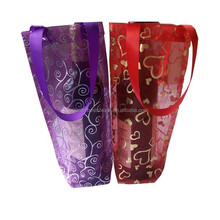 Custom organza wine tote bags from china factory