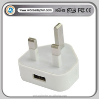 UK USB plug home charger for iphone ipad