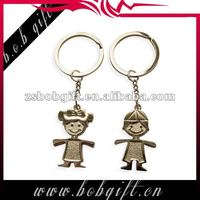 metal doll keyrings/ alloy personalized key rings