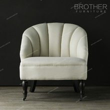 Modern design hotel and home furniture classic luxury french style fabric accent chair
